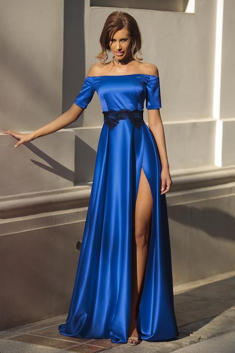 Vestito Matrimonio Uomo Blu Elettrico : Vestito lungo blu elettrico