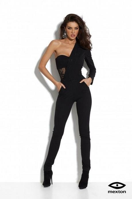 Overall tuta donna tutina jumpsuit elegante scollata pizzo